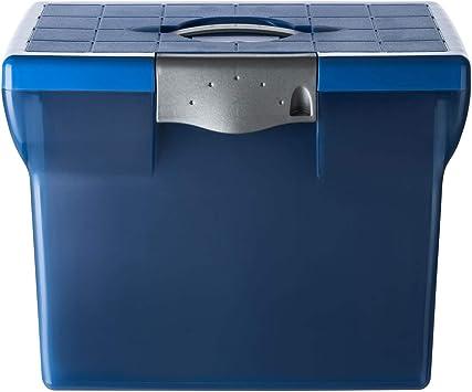 schwarz aus Kunststoff, A4 Premium Ablagebox Hängemappenbox Aktenbox Archivbox