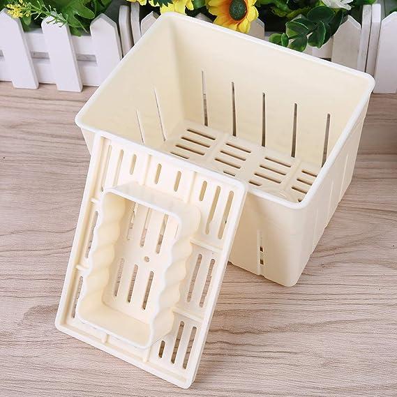 GROOMY Bricolaje Plástico Tofu Prensa Molde Hecho en casa Cuajada de Soja Hacer Molde Herramienta de la Cocina: Amazon.es: Hogar