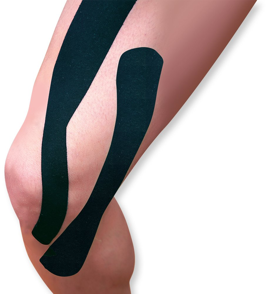 WellWear Kinesiology Tape Synthetic I Strips, Black