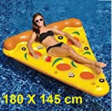 Giant Inflatable Pineapple, Pizza Slice ,Unicorn,Swan,Flamingo and Donut Swimming Pool Float Seat for Kids and Adults. (PIZZA)