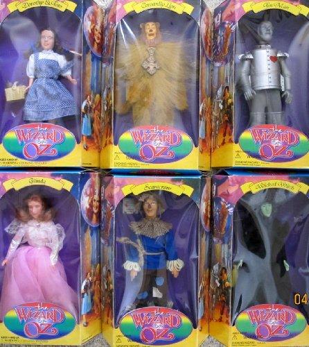 SKY KIDS The WIZARD of OZ DOLL SET of 6 DOLLS w Dorothy & Toto, Glinda, Wicked Witch, Scarecrow, Cowardly Lion & Tin Man (1994 Turner Entertainment/Loew's)]()