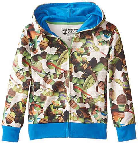Teenage Mutant Ninja Turtles Big Boys' Character Hoodie, White, Medium (White Ninja Hood compare prices)