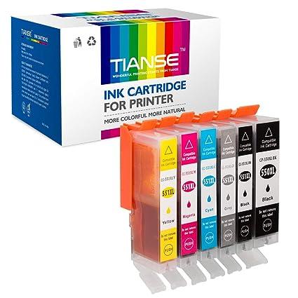 Paquete de 6 Cartuchos de Tinta de Repuesto para Canon PGI-550XL ...