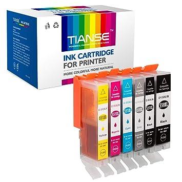 Paquete de 6 Cartuchos de Tinta de Repuesto para Canon PGI ...