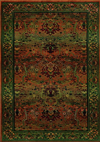 Oriental Weavers Kharma 465J4 Area Rug, 6', Green (Rug Antique Round Floral)