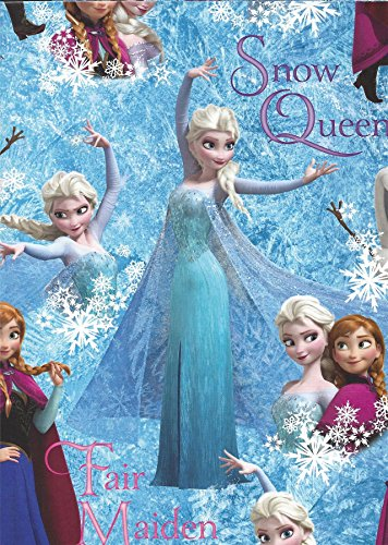 Official Disney Frozen Gift Wrap Pack featuring Queen Elsa, Princess Anna and Olaf - 2 Sheets of Gift Wrap and 2 -