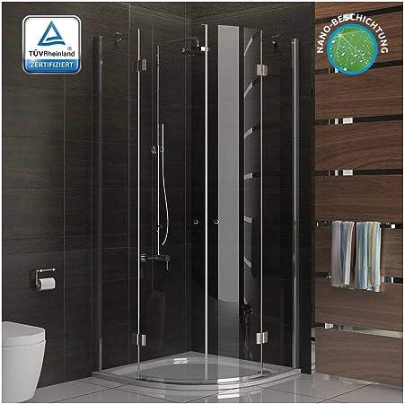 Ducha cuadro cuadrante/mampara de 90 x 200 cm aprox/ducha funshirt/modelo Beli Clear/cabina de ducha de vidrio con juego de accesorios: Amazon.es: Hogar