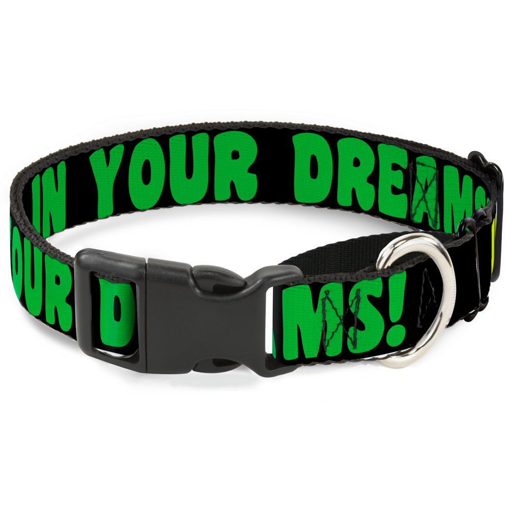 Buckle-Down MGC-W30930-M in Your Dreams  Black Pink Green Yellow Martingale Dog Collar, Medium