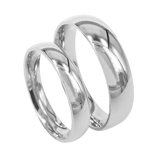 Everstone Anillo de bodas anillo de pareja Anillos de compromiso anillo de titanio Tamaño: 7