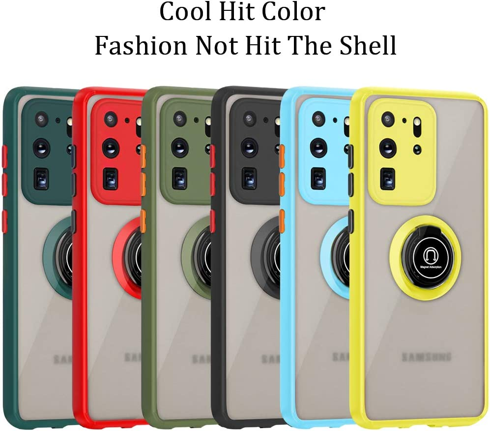 Anti-Scratch with 360 Degree Rotation Finger Ring Kickstand Work with Magnetic Car Mount Compatible for Galaxy S20 Plus Yellow SOKAD Samsung Galaxy S20 Plus Case