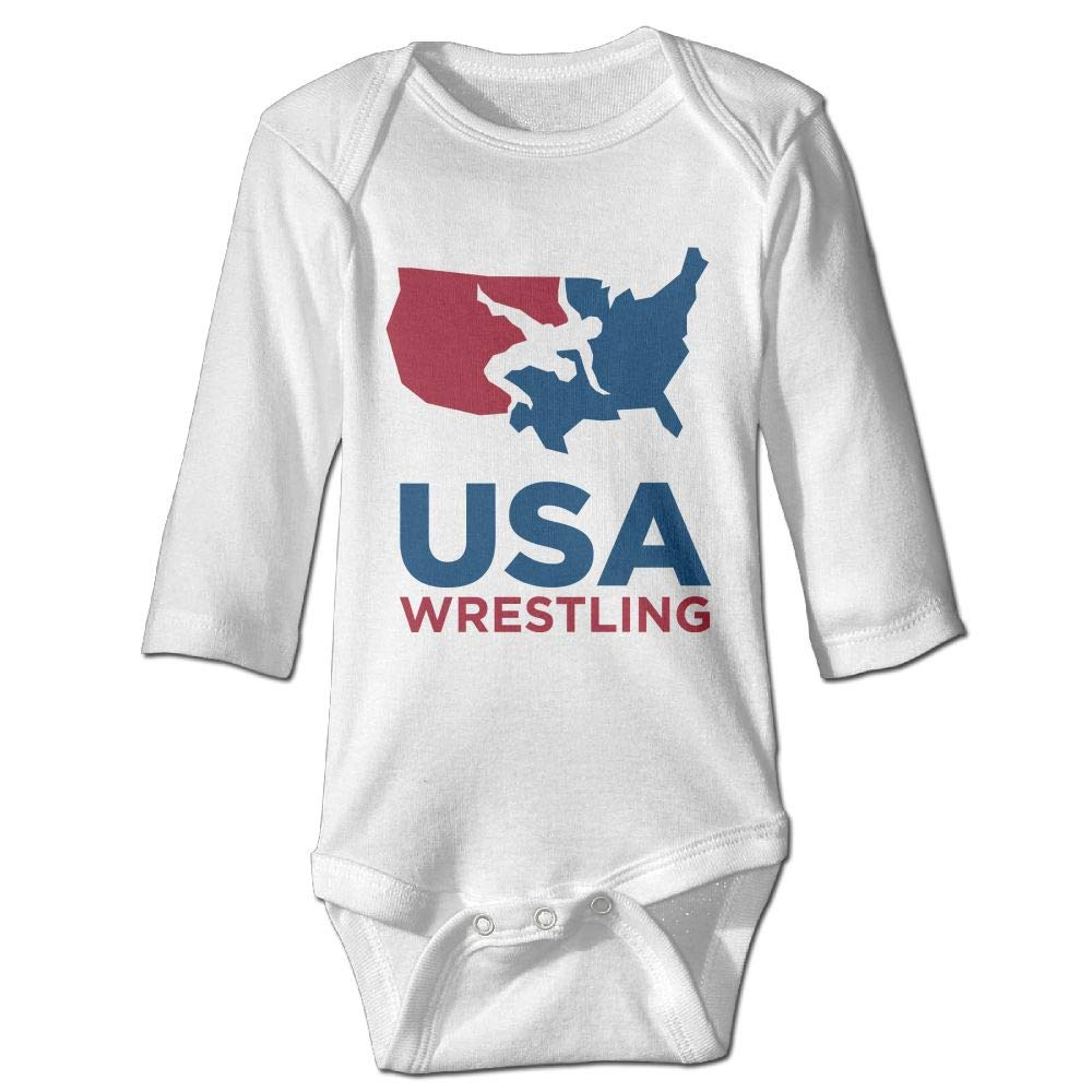 Shijingshan USA Wrestling Long Sleeve Baby Onesies Bodysuit Baby Clothes Jumpsuit