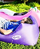 LoungeAir Inflatable Pool Float Lounger | Blow Up Air Mattress Bed and Chair Requires No Air Pump | Enjoy the Outdoors with This Air Lounge That is a Convenient Alternative to Portable Chairs - Purple