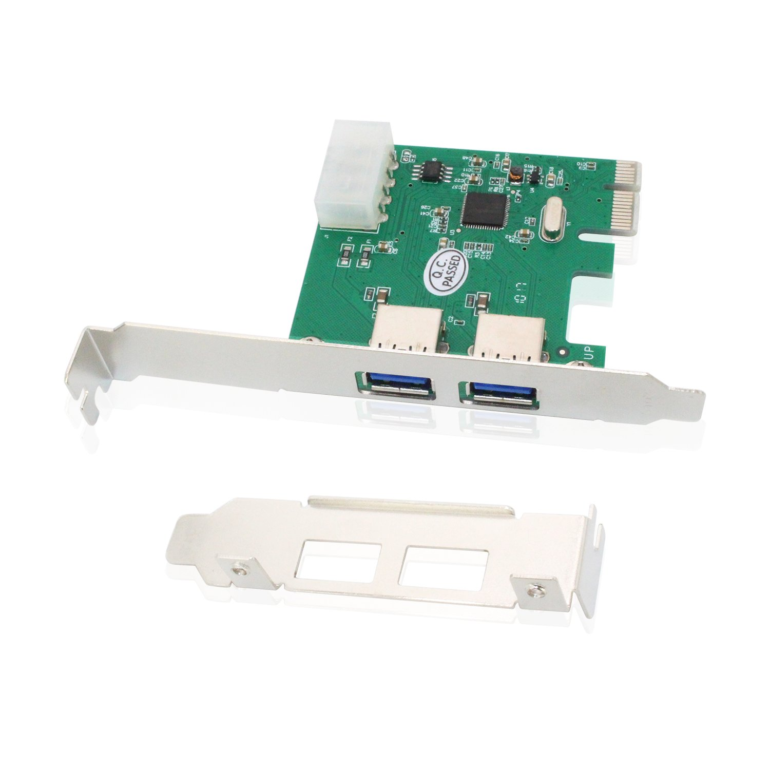 USB PCIe Card, Tanbin 2 Port USB 3.0 to PCI Express Card Expansion card, PCI-E to USB 3.0 4 Port Hub Controller Adapter - Expand Another Two USB 3.0 Ports for Desktop PC