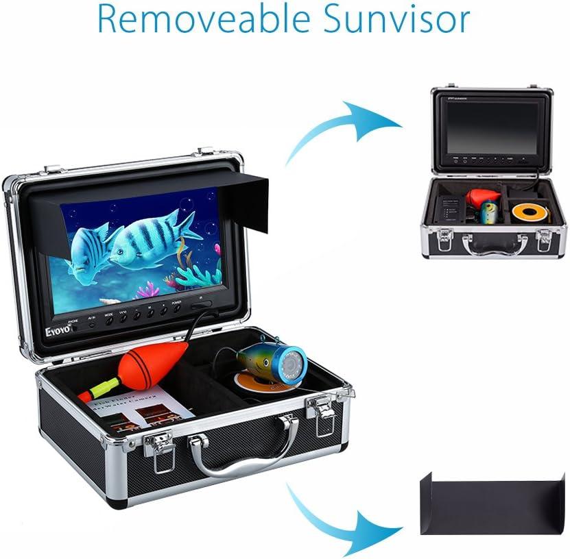 MYZZ 15/30/50M Localizador de Peces Sonda de Profundidad 12 Leds IR Ajustables HD 1000TVL Cámara subacuática para Pesca 9