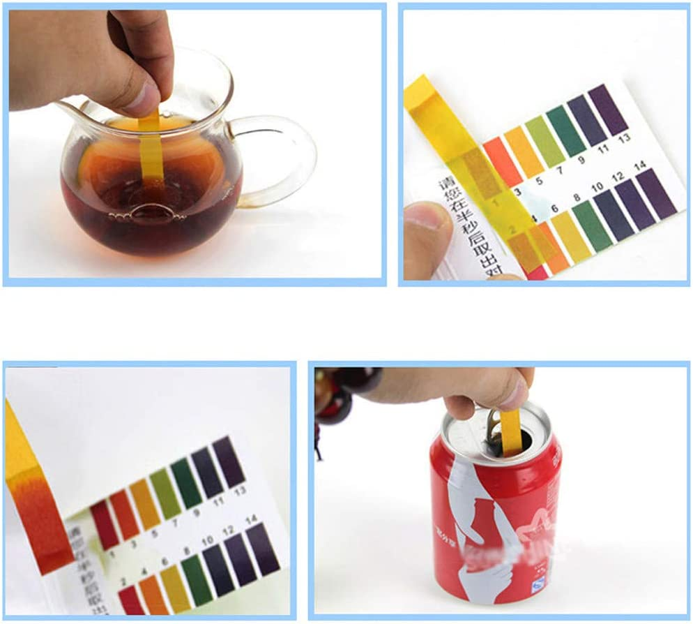 XGao PH 1-14 Test Paper 80 Strips Extensive PH Test Strips Litmus Test Paper PH Test Strip,Test PH for Saliva Urine Aquarium Water Soil Testing