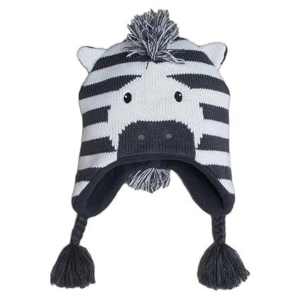 1f6a110b5c4c4 Frbelle® Bébé Enfant Bonnet Chaud Mignon Animal Zèbre Beanie Chapeau  Crochet Tricot Automne Hiver pour