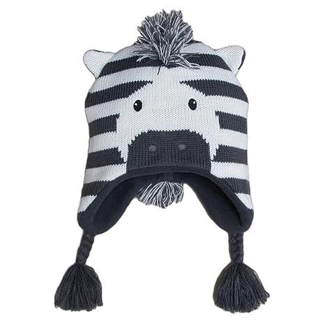 132b34077a55 Frbelle® Bébé Enfant Bonnet Chaud Mignon Animal Zèbre Beanie Chapeau Crochet  Tricot Automne Hiver pour