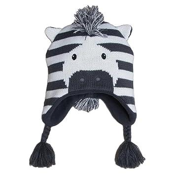 Frbelle® Gorro de Punto para Bebé Otoño Invierno Diseño de Cebra ...