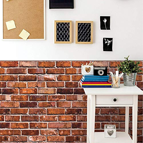 Wallies Vinyl Wall Decals, Peel and Stick Wallpaper Faux Brick Wall Decal, 25'' x 38'', 2 Pc