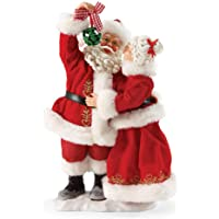 "Department 56 Possible Dreams Santa Claus ""Mistletoe Kisses"" Clothtique Christmas Figurine"