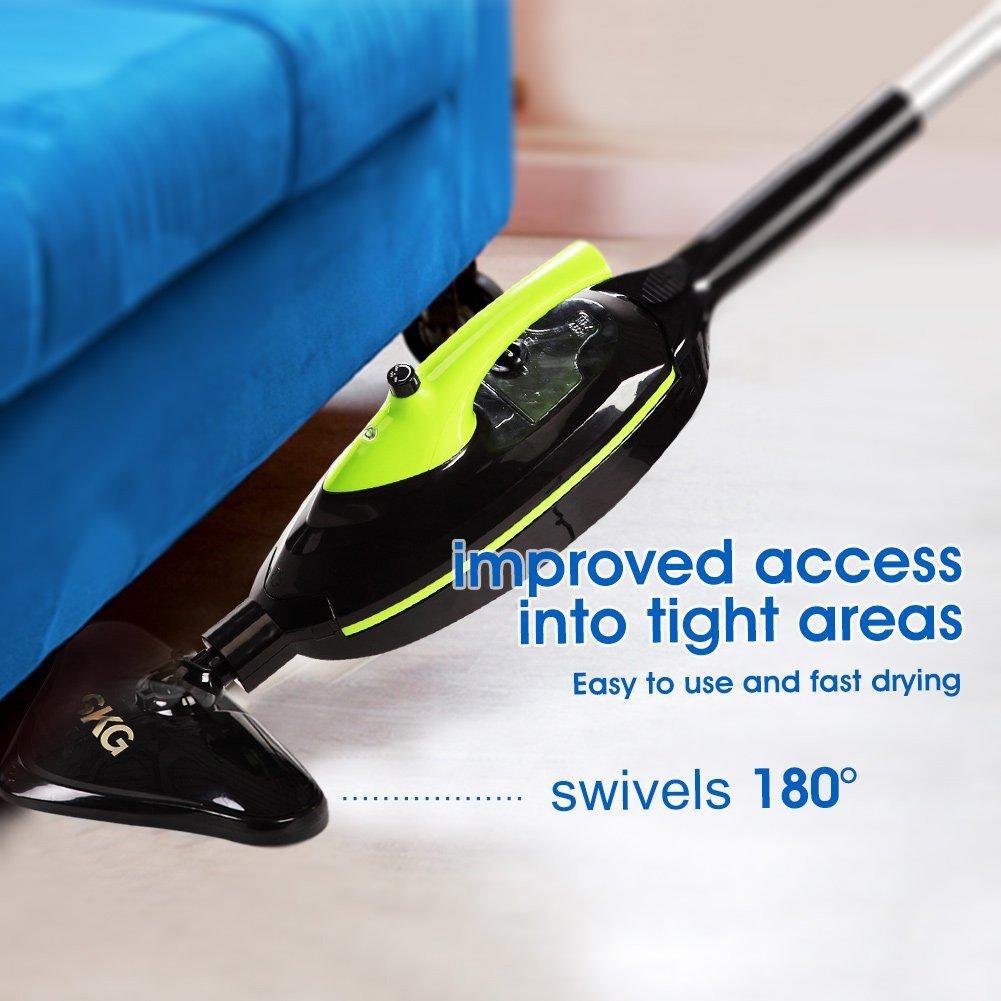 amazoncom skg 1500w powerful nonchemical 212f hot steam mops u0026 carpet 6in1 accessories u0026 3 microfiber pads included