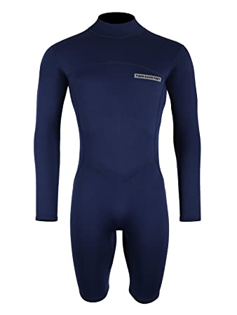 Two Bare Feet MD Mens 2.5mm Thunderclap Long Sleeve Shorty Wetsuit by TBF  Colour Size 6c71ebd30123