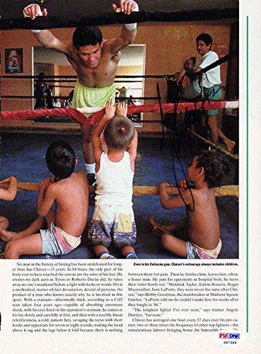 Julio Cesar Chavez Autographed Signed Magazine Page Photo S47395 PSA/DNA Certified Autographed Boxing Magazines