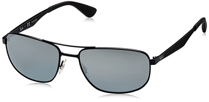 84d33a48713a4 Amazon.com  Ray-Ban Men s Metal Man Sunglass Polarized Square