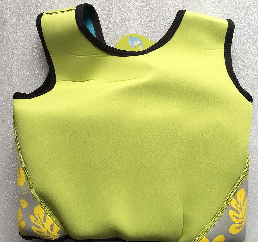 Titop Swim Vest para niños Infant Swim Trainer Chaleco para bebés Niños Chaleco Flotador Imprimir Amarillo Pequeño para niños 0-3 años: Amazon.es: Ropa y ...
