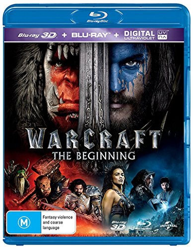 Warcraft [3D Blu-ray + Ultra Violet] [NON-USA Format / Region B Import - Australia]