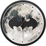 12インチスーパーヒーロー主義3Dバットマンの壁時計の壁時計のテーブルレトロヨーロッパの大きな壁時計のリビングルーム[電池なし]