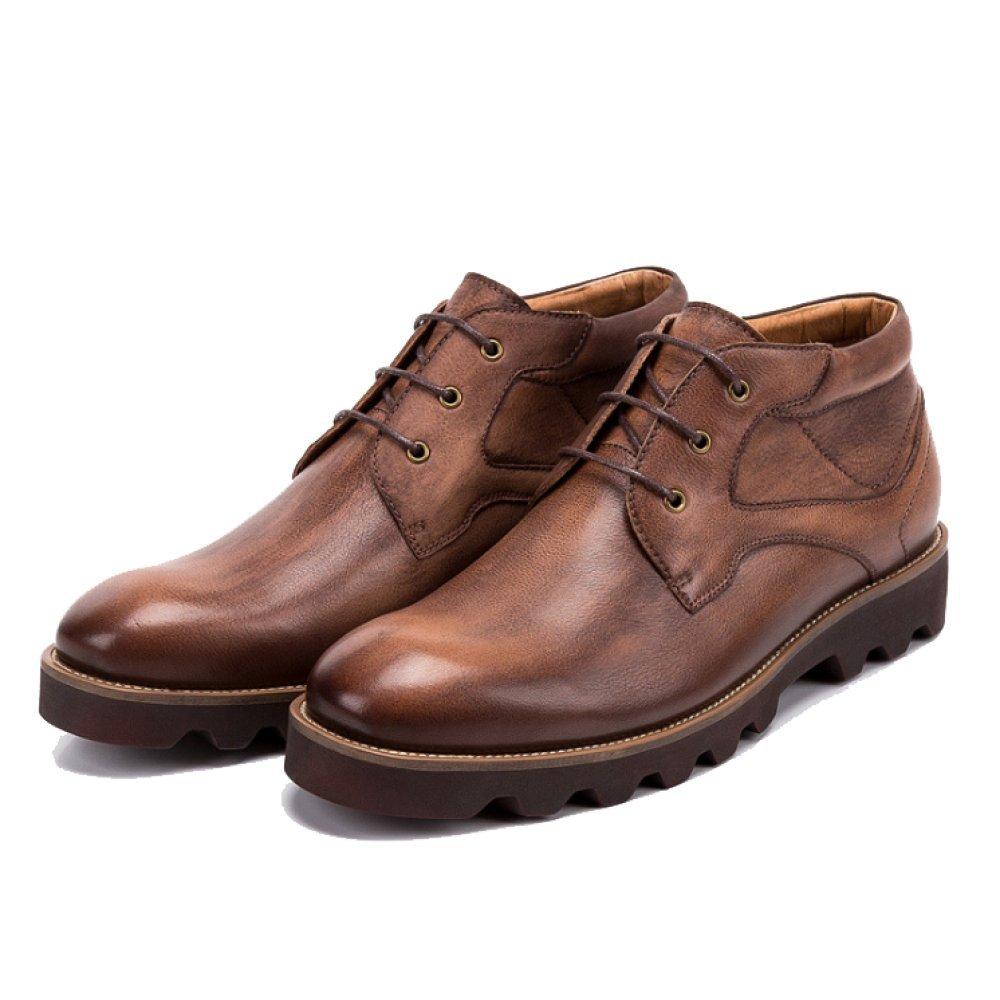 Los Zapatos De Los Hombres, High-Top, Martin Botas, Inglaterra, Encaje, Marea, Casual, Moda, Negocios, Resistente Al Desgaste 39 EU Coffee