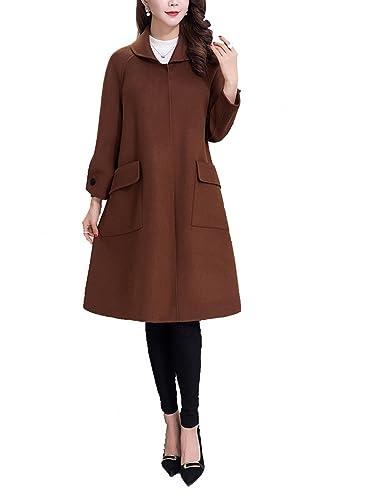 J.R.S - Abrigo - para mujer marrón marrón M
