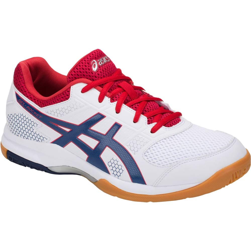 ASICS Men's Gel-Rocket 8 White/Deep Ocean 6 D US