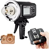 Godox AD600BM HSS Bowens Mount 600Ws GN87 High Speed Sync Outdoor Flash Strobe Light with X1T-C X1C Wireless Flash Trigger, 8700mAh Battery Pack to Provide 500 Full Power Flashes, Recycle in 0.01-2.5 Second, for Canon (AD600BM+X1T-C)