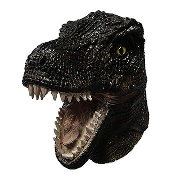 Latex Dinosaur Mask Jurassic Triceratops Fancy Dress Fancy Dress Halloween Dino