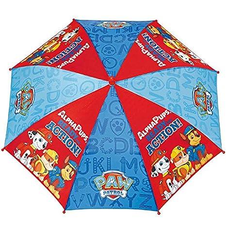 Paraguas antiviento Patrulla Canina Paw Patrol apertura seguridad 42cm