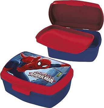 Box Spiderman Scatola Merenda Asilo