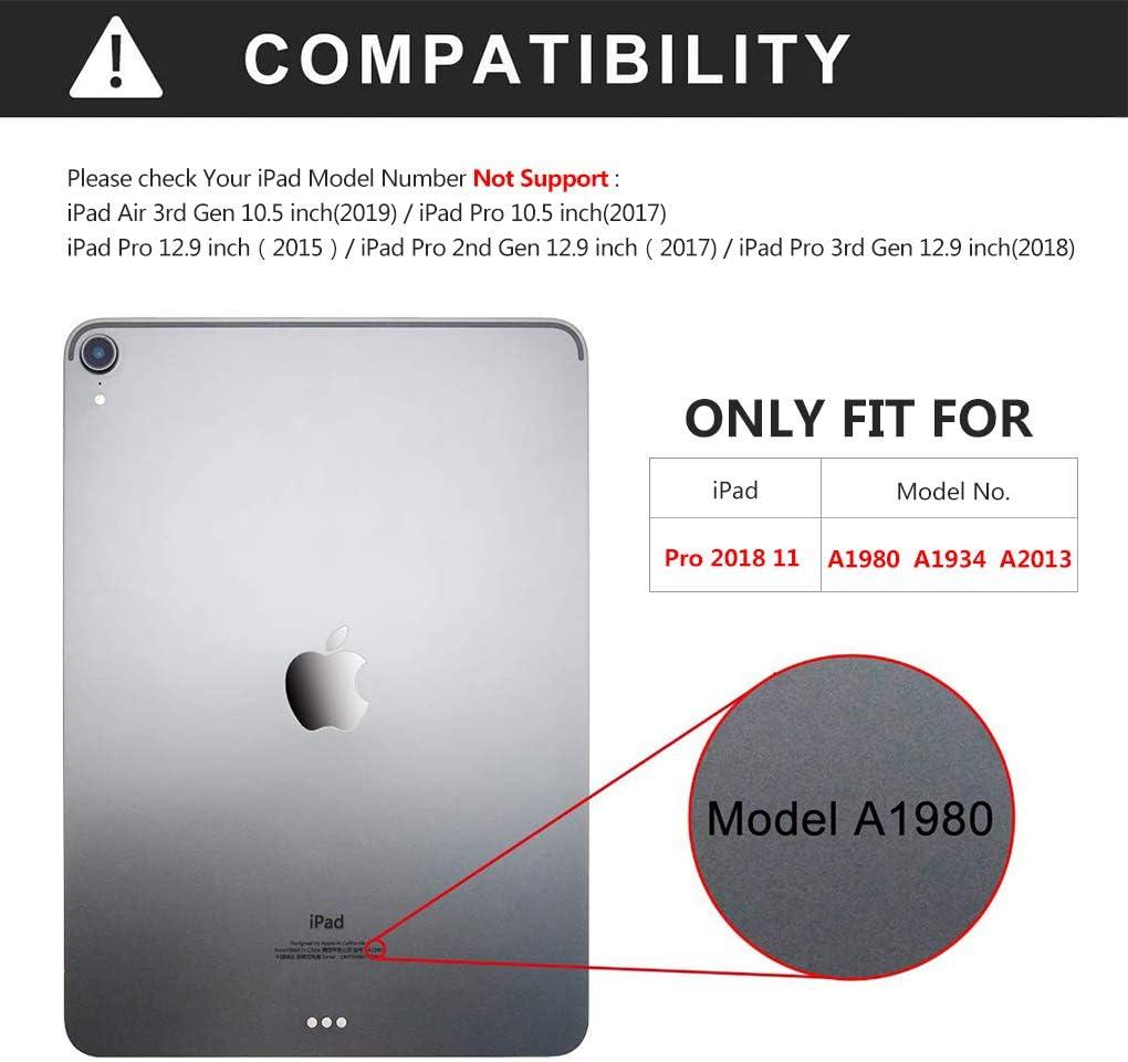 Funda para iPad Pro 11 con Teclado, Funda de Piel sintética para ...