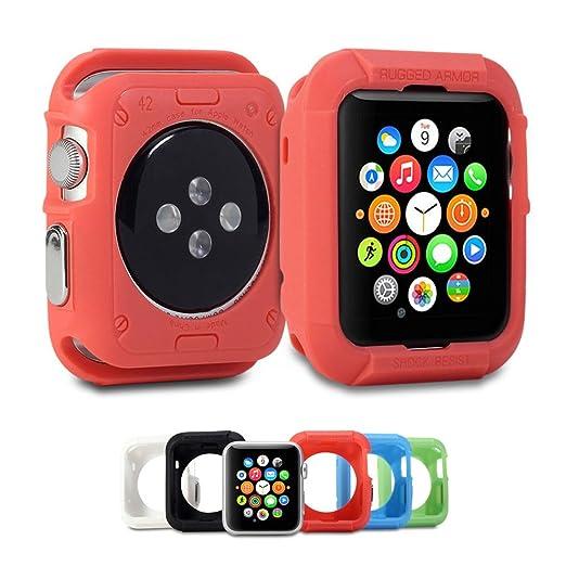 5 opinioni per Custodia per Apple Watch, GMYLE Custodia morbida armatura di protezione robusta