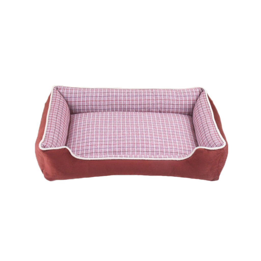 M Moolo Pet Bed Plaid Fabric Kennel Soft And Comfortable Waterproof Non-slip Durable B1 Dog Bed (Size   M)
