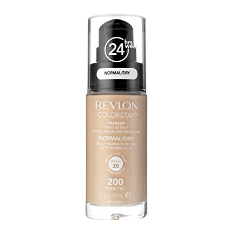 Revlon, Fundación Colorstay para pieles secas, botella con dispensador, 30 ml, 200