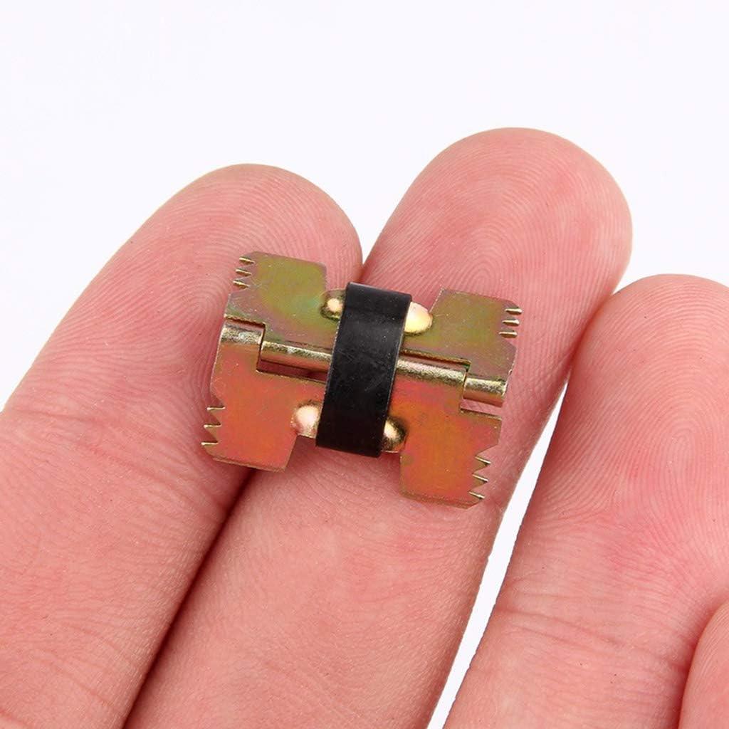 Xdodnev 10Pcs Vintage Mini Size Self-Closing Metal Spring Hinges for Jewelry Glasses Box