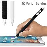 Pencil Barrier™(ブラック)Apple Pencil を保護しグリップ力をアップする シリコン製カバー・充電時のキャップ紛失を防ぐ収納ヘッド搭載・〜 ペンシルバリア〜
