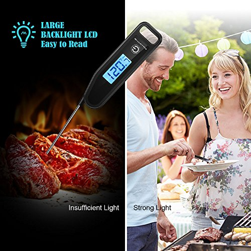 Large Product Image of SMARTRO ST43 Meat Thermometer Instant Read Cooking Food Thermometer Digital Touch-Screen Thermometer for Candy, BBQ, Kitchen, Grilling, Smoker