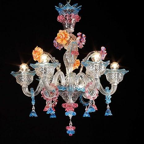 Lámpara Murano vitale- 6 luces - Cristal ornamentos ...