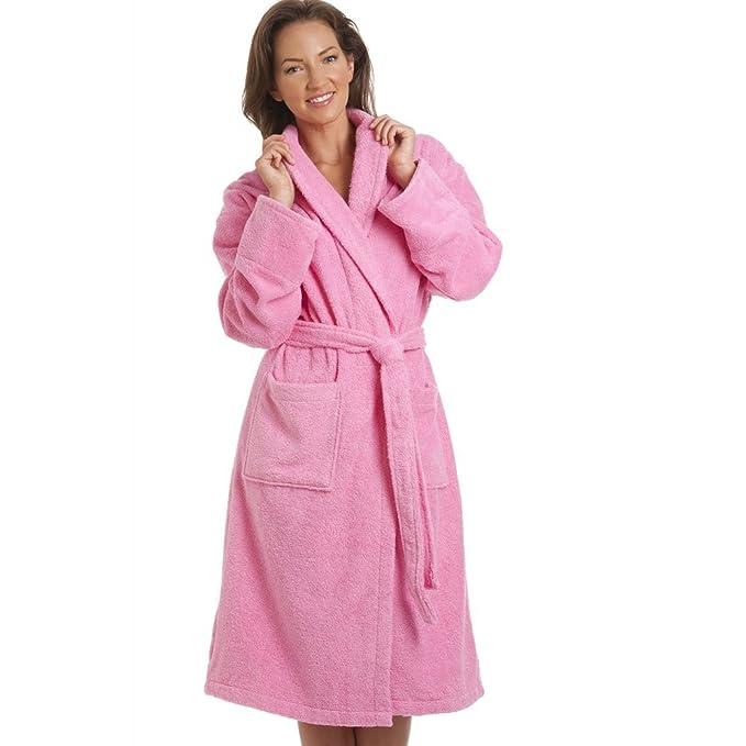 Camille - Ropa de Dormir Bata para Mujer de Color Color DE Rosa de Talla L/XL: Amazon.es: Ropa y accesorios
