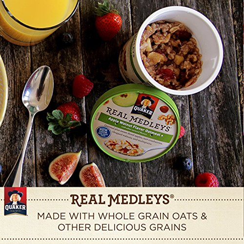 030000315507 - Quaker Real Medleys Oatmeal+, Apple Walnut, Instant Oatmeal+ Breakfast Cereal, (Pack of 12) carousel main 7