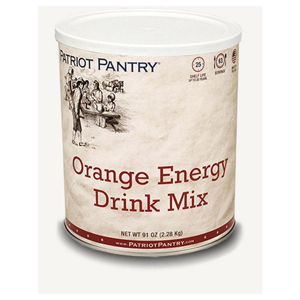 Patriot Pantry Orange Energy Drink Mix (63 servings) #10 Can Bulk Emergency Storage Food Supply, Up to 25-Year Shelf Life