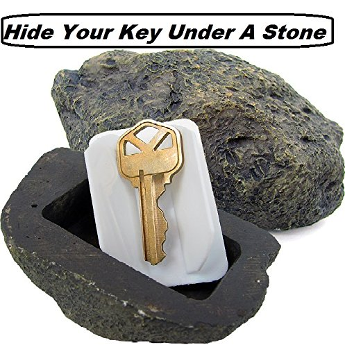 Hide a Spare Key Fake Rock - Gray Camouflage Stone Diversion Safe Looks & Feels Like Real Stone Rock, Safe for Outdoor Garden or Yard, Geocaching Popular Practical Performance – ()